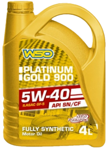 WSO Platinum Gold 900 5W40 Fully Synthetic Engine Oil